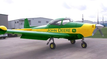 I'm assuming this isn't the actual plane, but it's a plane that says John Deere on the side, so it might be.