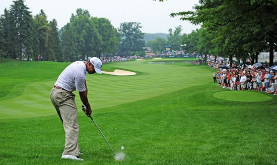 Aww Tiger missed the fairway... What's new (Photo by Stuart Franklin/Getty Images)