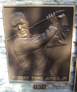 Bobby Jones' plaque as an example.